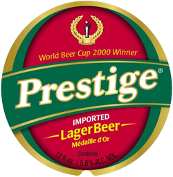 Prestige caribbean beer is refreshing on a hot afternoon in Haiti.