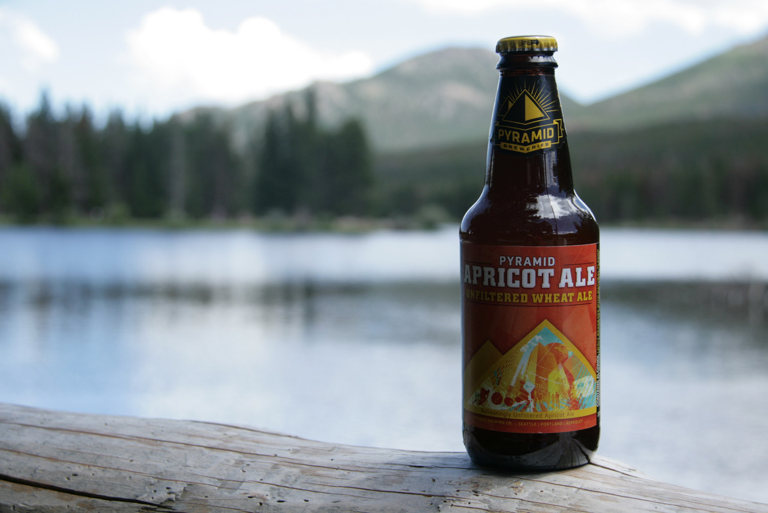 Enjoy Pyramid's Apricot Fruit Wheat Ale outside with nature.