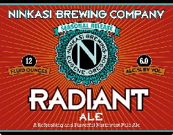 Ninkasi Radiant Summer Oregon Beer is a great refresher.