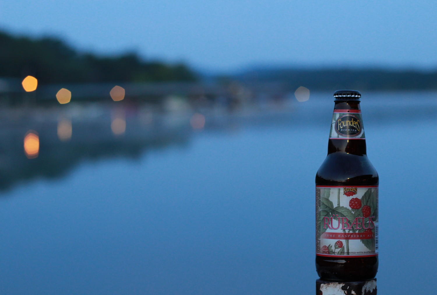 Rubaeus raspberry beer for an evening on the lake.