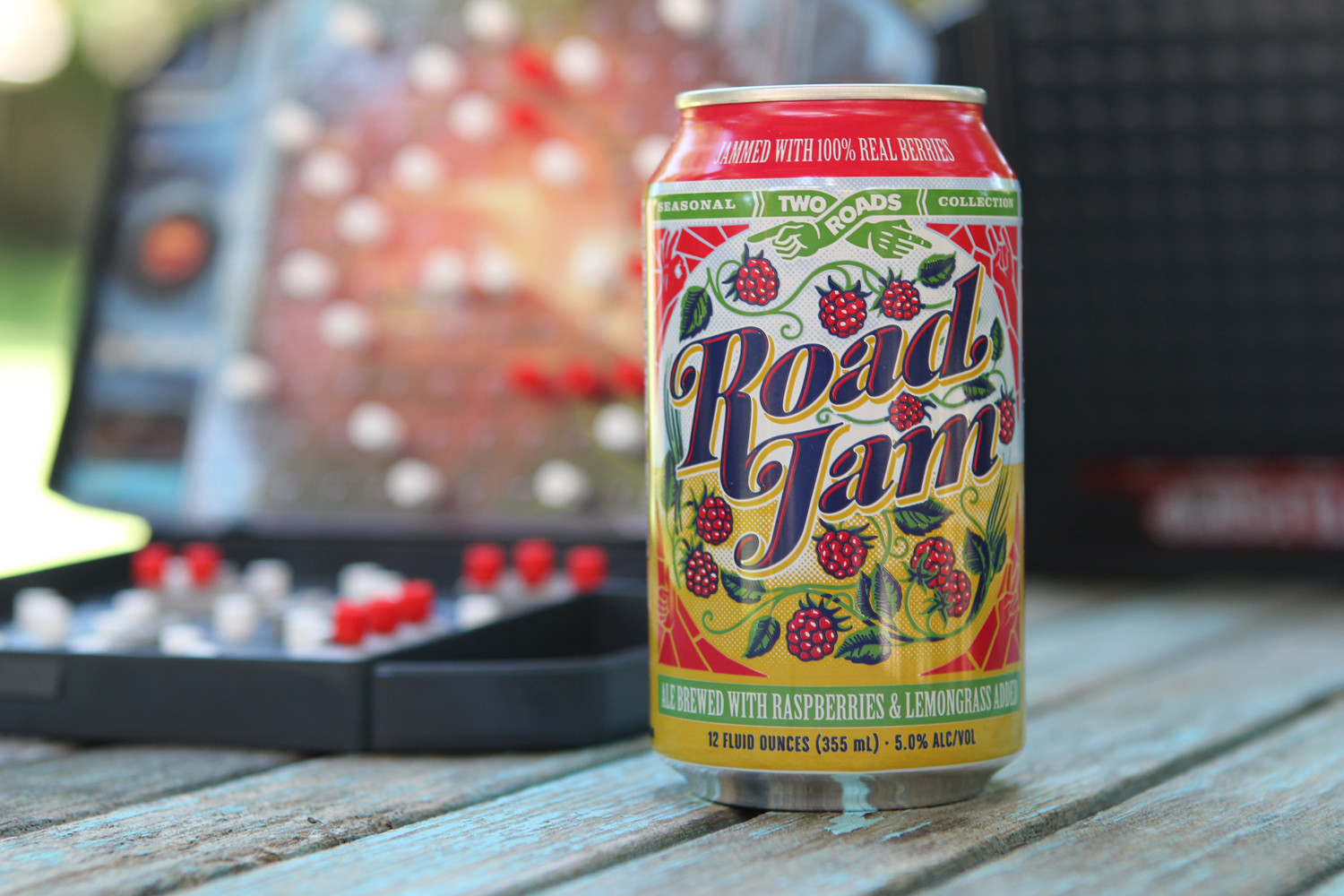 Road Jam summer beer from Two Roads Brewing is a fruit berry beer.