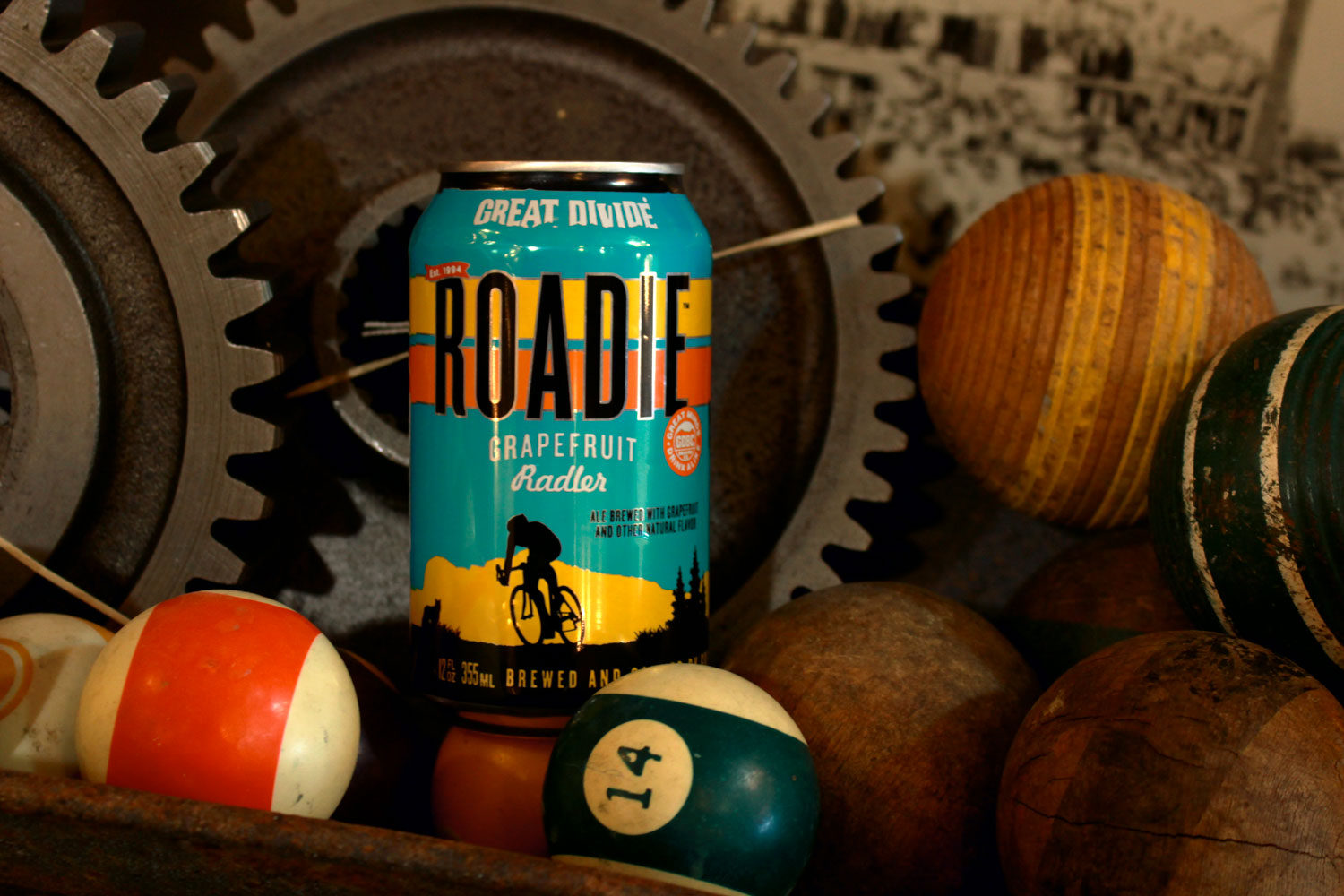 Roadie summer fruit radler from Great Divide.