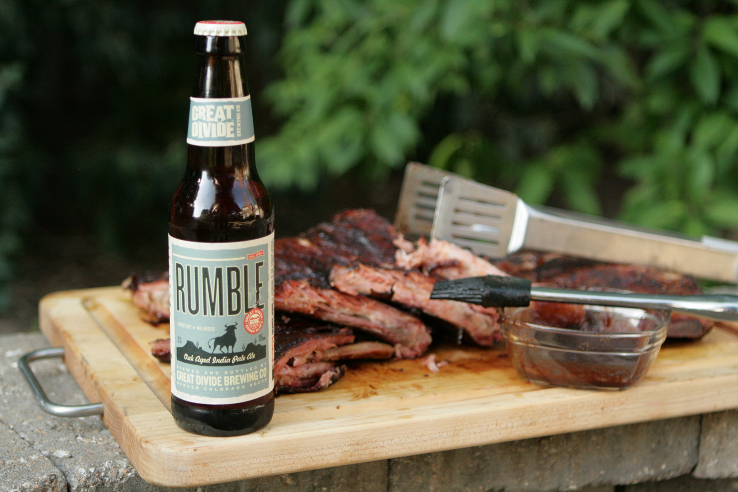 Rumble Summer Colorado IPA Beer is great with bbq.