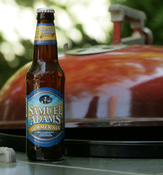 Enjoy Sam Adams summer seasonal beer on a hot day.
