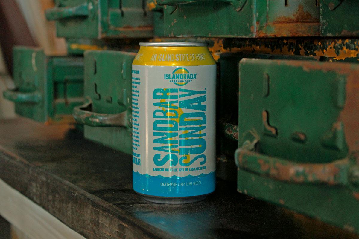 Sandbar Sunday beer from the Florida Keys.
