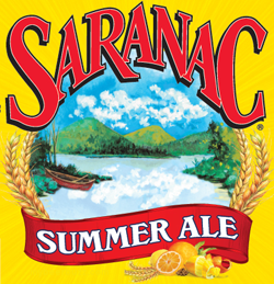 Saranac Summer Ale American beer by Matt Brewing.