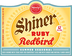 Shiner Ruby Redbird summer beer quenches thirst.