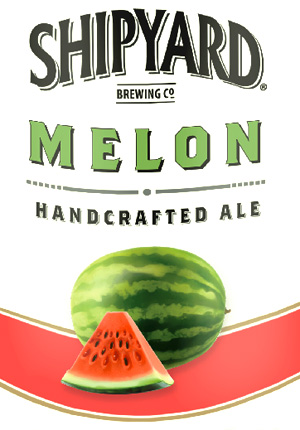 Shipyard summer Melon beer from Maine.
