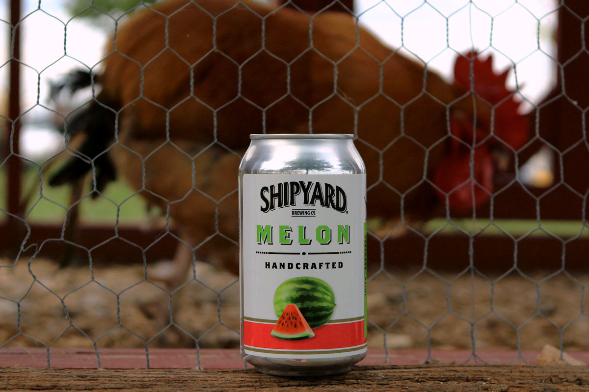 Shipyard handcrafted summer Melon beer is the tops.