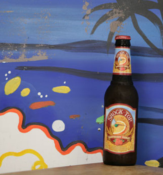 Enjoy Shock Top fruity beer Raspberry Wheat.
