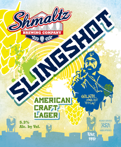 Slingshot American Lager is a genuine summer beer.