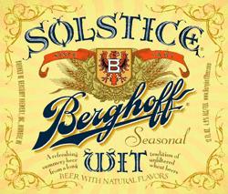 Enjoy Solstice Wit summer beer this season.