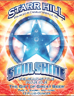 Soul Shine summer craft beer from Starr Hill Brewery.