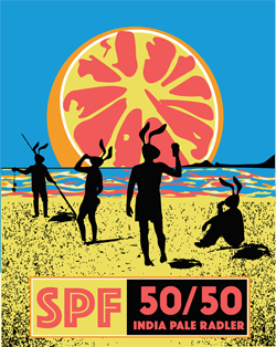 Red Hare Brewing SPF 50/50 India Pale Radler.