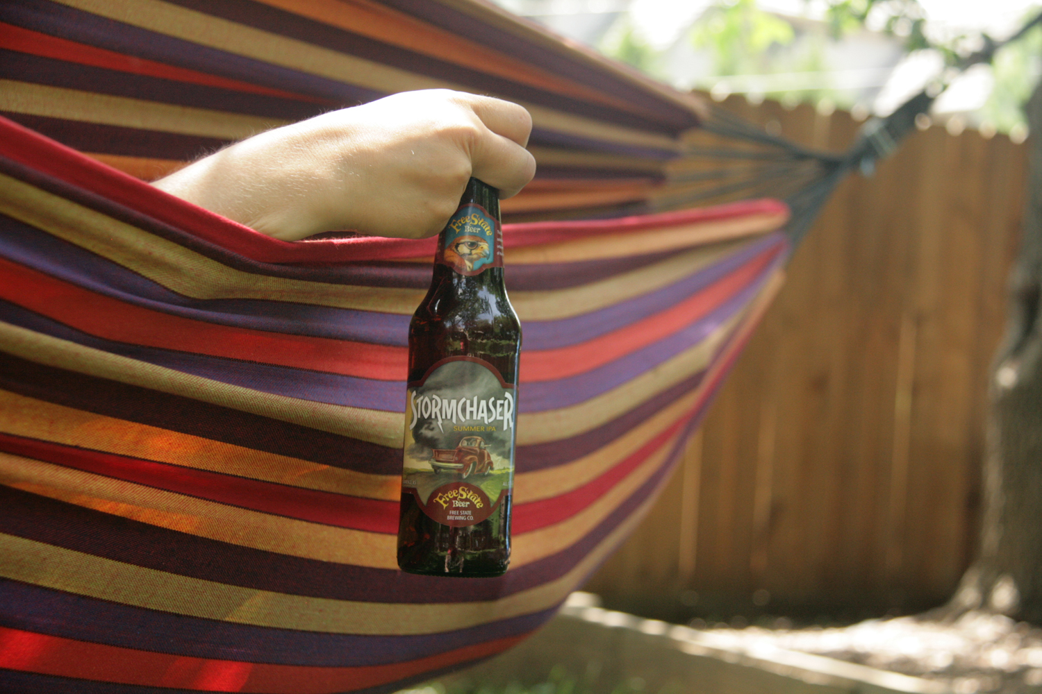 Drink Stormchaser summer American IPA on the patio with friends.