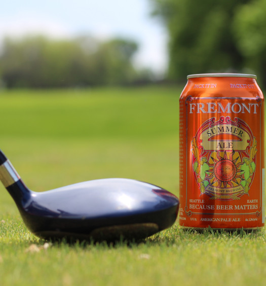 Fremont's Summer Ale summer beer can is great for a day of golf.