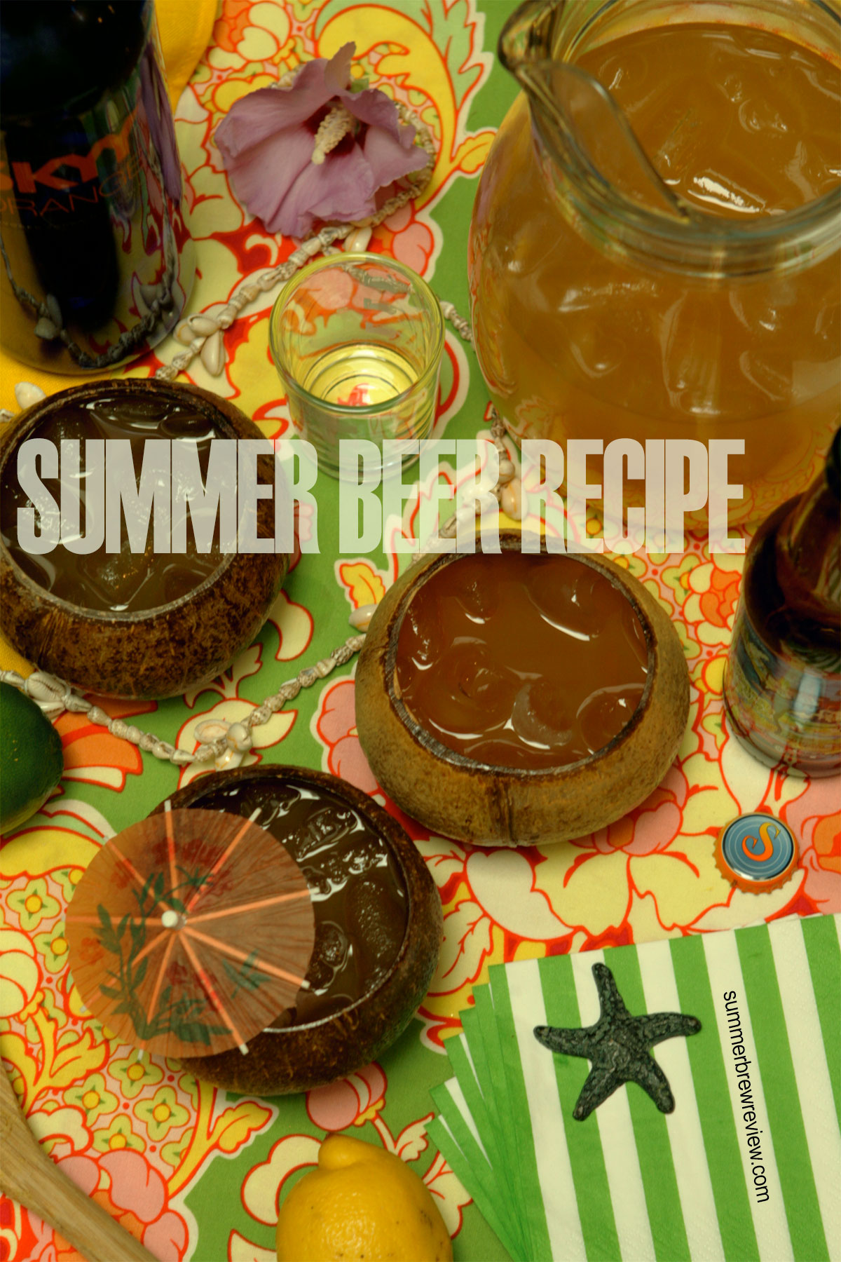 Summer beer recipe with lemonade, vodka and beer.