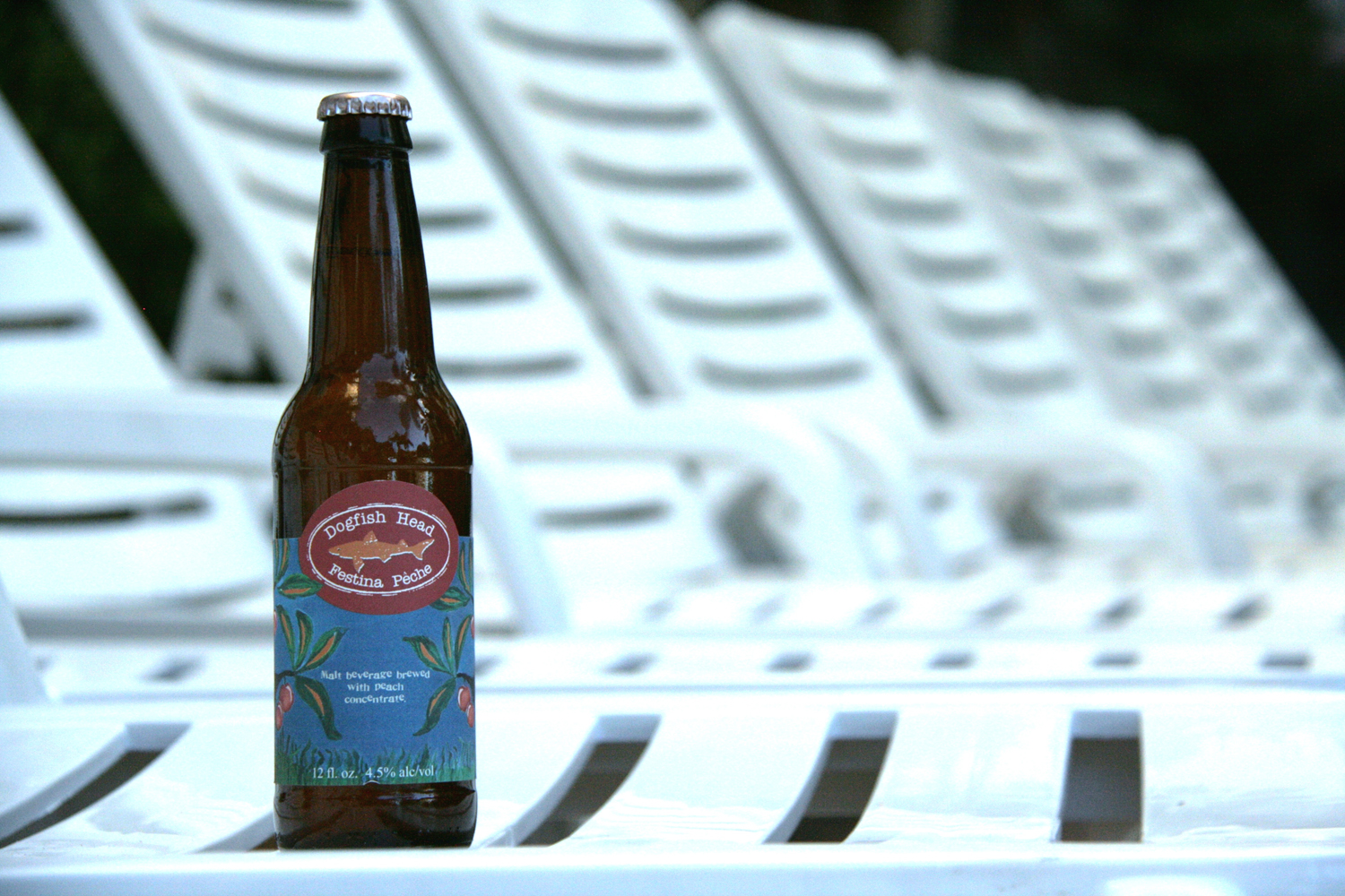 Enjoy a peach summer Berliner Weisse seasonal craft beer by the pool.