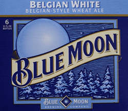 Enjoy summer Blue Moon beer Belgian White .