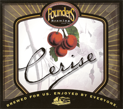 Cerise summer cherry beer from Founders.