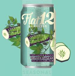 Enjoy summer cucumber beer from Flat12.