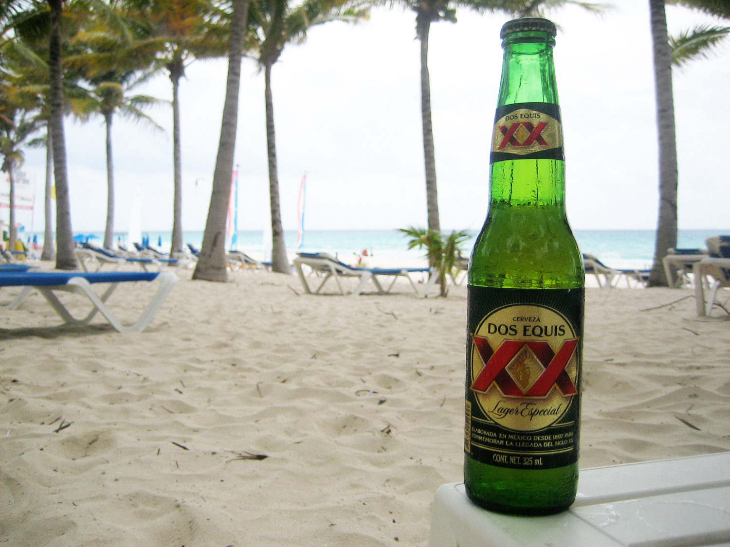 Grab a Mexican summer Dos Equis beer for the beach.