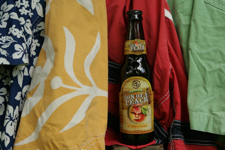 Seasonal peach summer beer is refreshing.