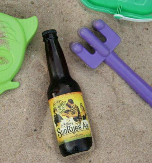 Enjoy Weston SunRyes summer rye beer on the beach.
