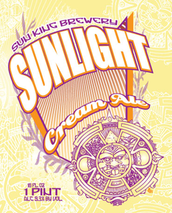 Enjoy Sunlight Summer Cream Ale beer on hot days.