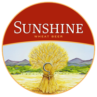 Sunshine wheat beer is cool for hot summer days.