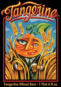 Tangerine beer is a bright summer seasonal fruit beer.