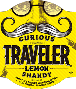 Curious Traveler Lemon Shandy from the Traveler Beer Company.