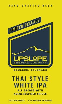 Enjoy Upslope limited release summer thai beer.