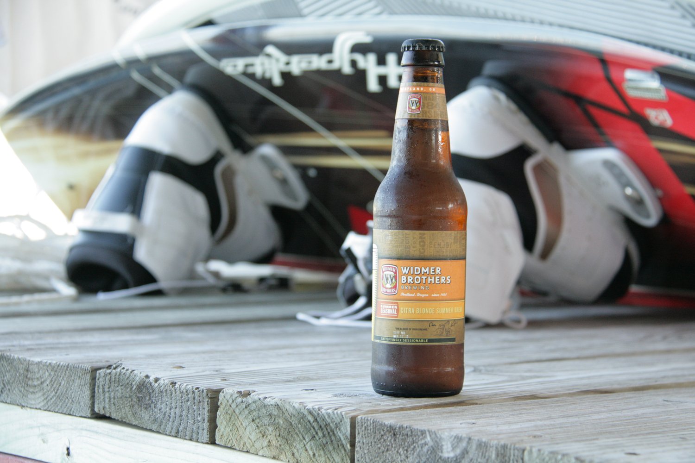 Enjoy Citra Blonde Summer pool beer this warm season.