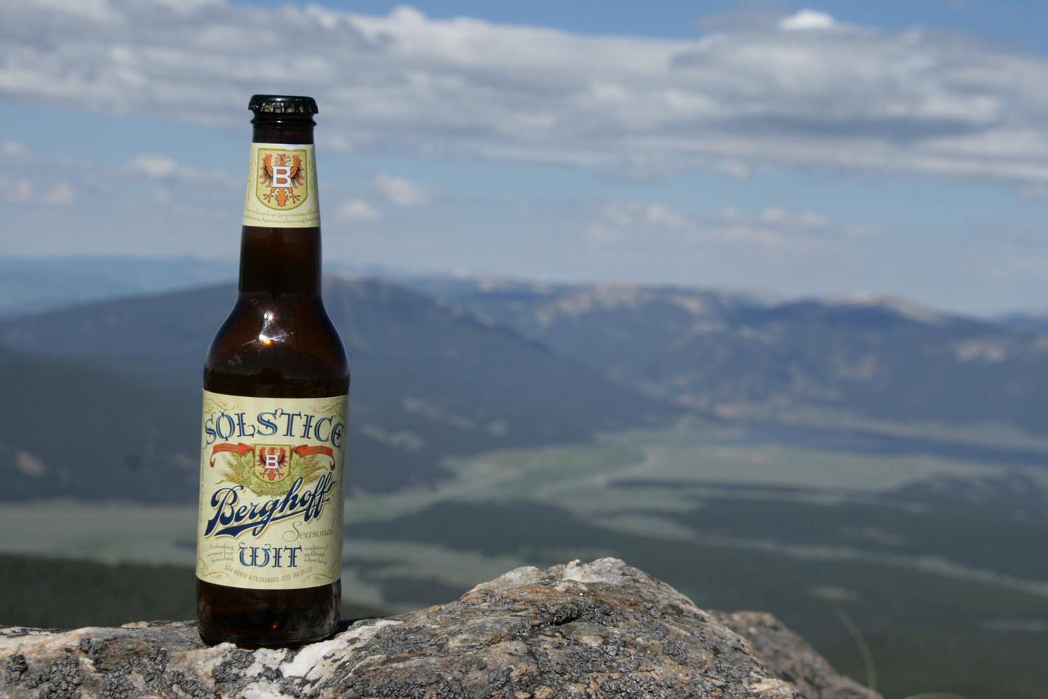 Be on top of the world with Berghoff's Solstice Wit summer beer.