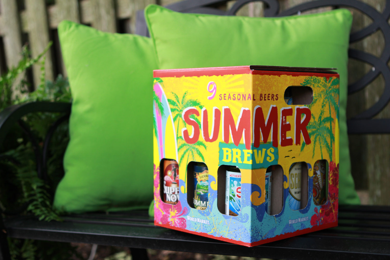 World Market Summer Brews variety mix pack of summer beers.