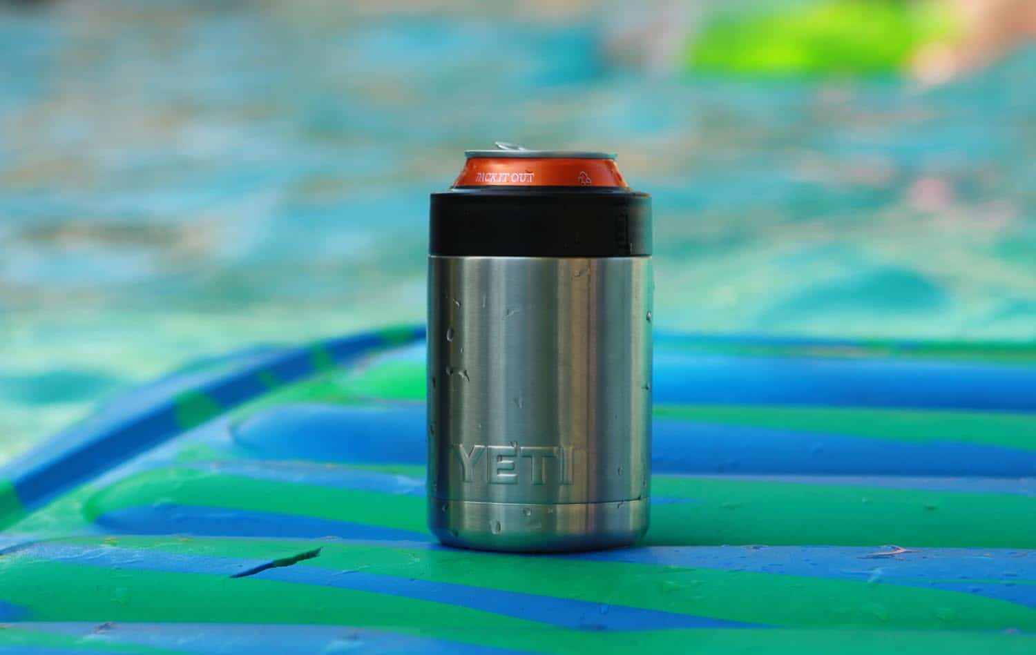 Yeti drink cooler Rambler Colster keeps cans or bottles cold for hours.